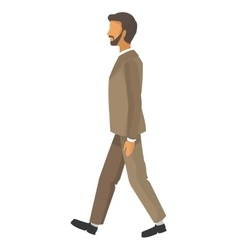 Businessman walking icon vector
