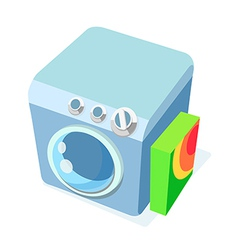 Icon washing machine vector