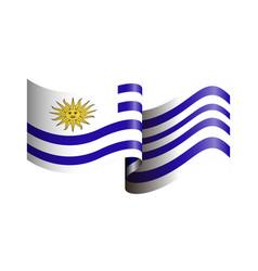 isolated flag of uruguay vector image