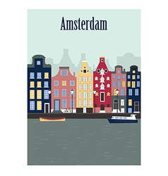 Amsterdam city vector