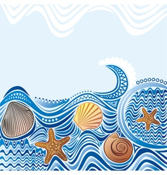 Beautiful sea wave vector image