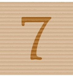 Number seven icon symbol flat modern web design vector