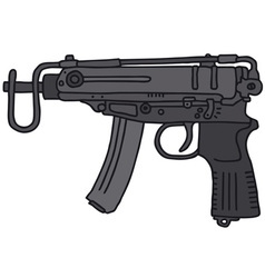 Small automatic gun vector