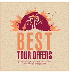 Best tour offers vector