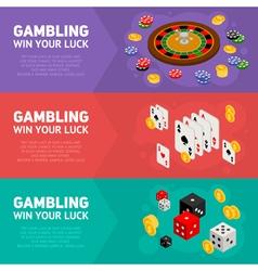 Casino isometric design concept of templates vector