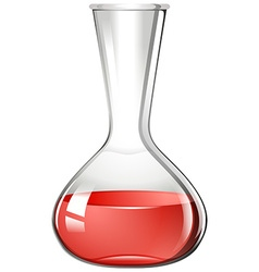 Red liquid in flask vector