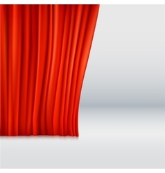 Background with curtain vector