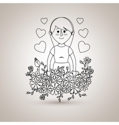 Mother figure design vector
