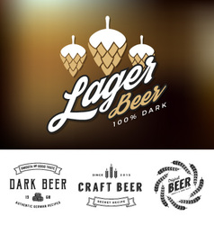 Beer logo and label design vector image