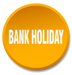 Bank holiday orange round flat isolated push vector