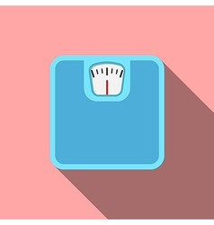 Bathroom scale flat design vector image