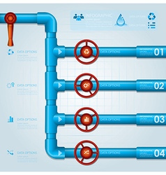 Water Pipe Business Infographic Design Template vector image