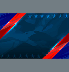 America flag color template vector