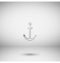 Anchor solid body symbol vector image