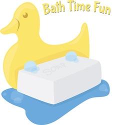 Bath time fun vector