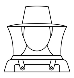 Beekeeper icon outline style vector