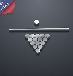 Billiard pool game equipment icon symbol 3d style vector