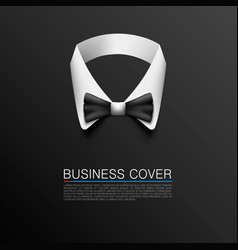Business suit cover art banner vector