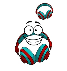 Cartoon DJ headset vector image