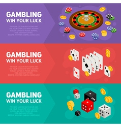 Casino isometric design concept of templates vector image