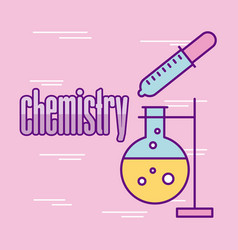 chemistry laboratory cartoon vector image
