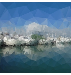 Colored abstract background mountains and sea vector