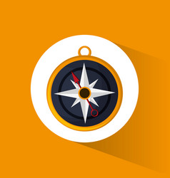 Compass location navigation icon vector