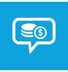 Dollar rouleau message icon vector