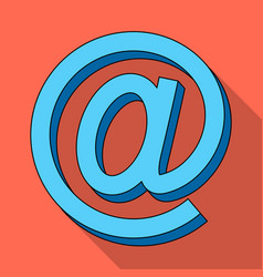 Email symbolmail and postman single icon in flat vector