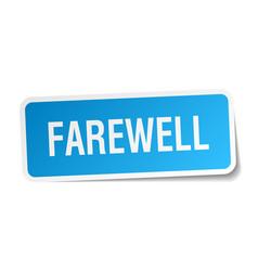 Farewell square sticker on white vector