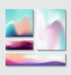 Flow design templates vector