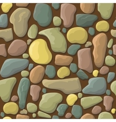 Funny cartoon stones seamless pattern vector image