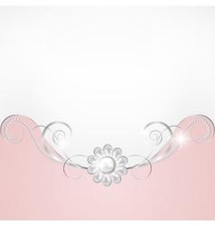 Jewelry border vector image vector image