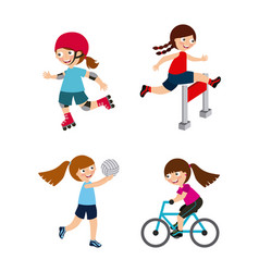 kids and sports design vector image