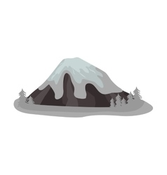 Mountain isolated vector