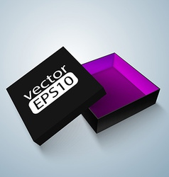 Opened black box vector