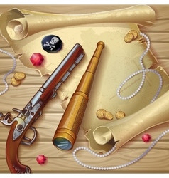 Pirate accessories composition vector