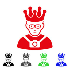 Sad thailand king icon vector