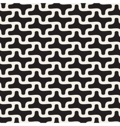 Seamless Black And White Rounded Lines vector image vector image