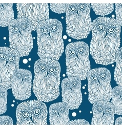Seamless pattern with polar owl vector