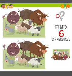 Spot the differences worksheet vector