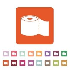 The toilet paper icon Bathroom symbol Flat vector image