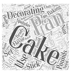 What tools do i need for cake decorating word vector