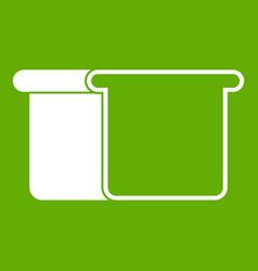 White bread icon green vector
