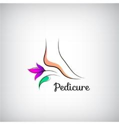 Woman foot pedicure logo abstract design concept vector