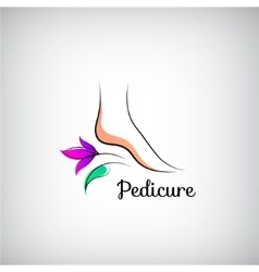 Woman foot pedicure logo Abstract design concept vector image vector image