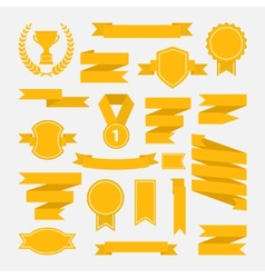 Yellow ribbons set III vector image vector image
