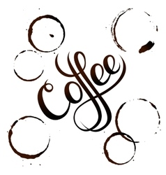 Coffee stain isolated on white background vector