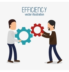 Avatar efficiency work colaboration design vector