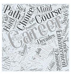 Career enhancement basics word cloud concept vector